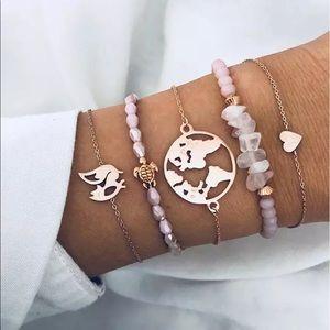 Boho Beach Vibe Layered Bracelet Set